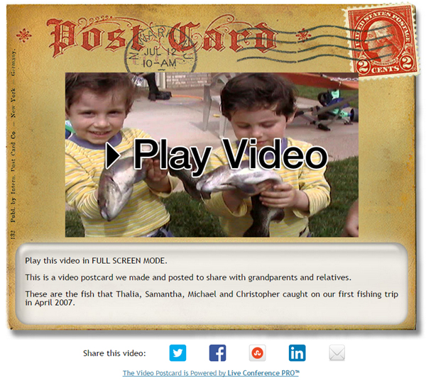 Video Postcard - Kids Catching First Fish